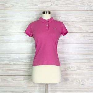 Lacoste Size 38 Women's Short Sleeve